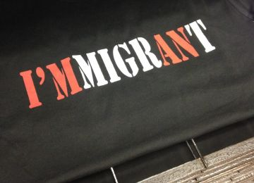 I'mmigrant T-shirt black